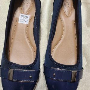 Blue Patent Tip Dress Shoes